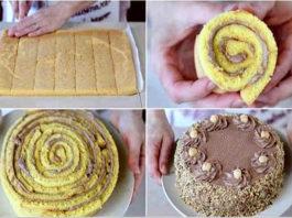 """""""Итальянский орех"""". Очень вкусный и необычный бисквитный торт!"""