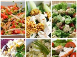 6 диетических рецептов салатов из курицы, они разнообразны, полезны и очень вкусны!