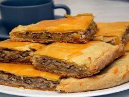 Мясной пирог за 10 минут