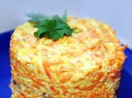 Салат из морковки с сыром: можно даже на ночь!