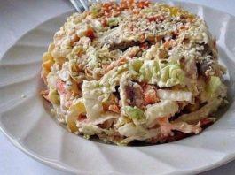 Салат с пекинской капустой «Переполох» — Любимый рецепт моей дочки!