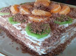 Зимний торт без выпечки за 20 минут: самый вкусный и простой рецепт