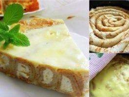 Блинный пирог с творожной начинкой!