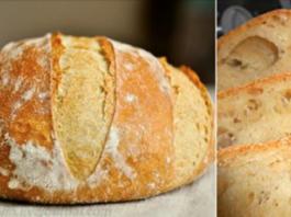 Домашний хлеб без замеса: рецепт прост как раз, два, три! Пышный, душистый, с хрустящей корочкой