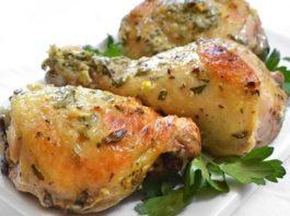 Курица с сметанном маринаде