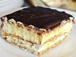 Нежнейший торт-эклер без выпечки!