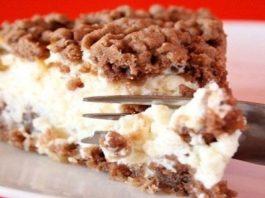 Очень аппетитный десертик — тертый чизкейк!