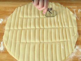 Она разрезала тесто на полосочки. То, что вышло в результате, оценит любая хозяйка!