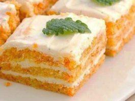 Пирожное с морковью и творожным кремом. Не вредно даже на ночь!