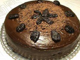 Праздничный и любимый торт моей семьи — «Чернослив в шоколаде»