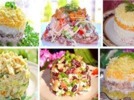 Пятнадцать невероятно вкусных салатиков для праздничного стола!