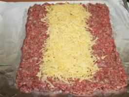 Рулет из сыра с мясным фаршем