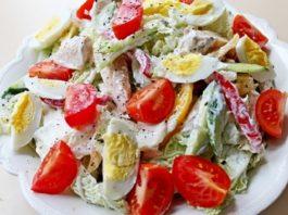 Салат с куриной грудкой «наслаждение»