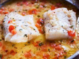 Тушеная рыба с томатами по-сицилийски: очень вкусный ужин!