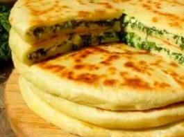 Хачапури с сыром и зеленью!
