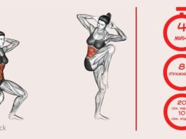 8 эффективных упражнений, 4 минуты в день — и ваше тело изменится невероятным образом. Лето не за горами!