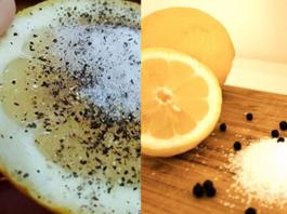 Используй лимон, соль и перец, чтобы справиться с этими 8 проблемами!