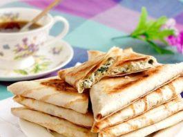 Лаваш с зеленью и сыром: ПП-перекус за 15 минут!