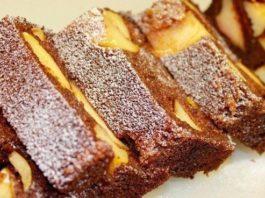 Лучший десерт. Шоколадный манник с карамельными яблоками