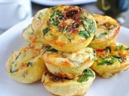 Мини-омлеты с ветчиной — идеальный завтрак!