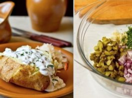 Надоела обыденность? Печеный картофель с селедочным соусом — лучший ужин для семьи!