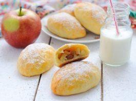 Пирожки из нежнейшего творожного теста с яблоками