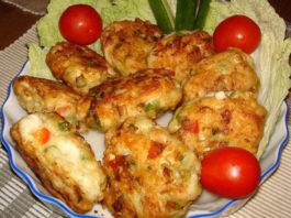 Полезные котлеты из куриного мяса с овощами и сыром