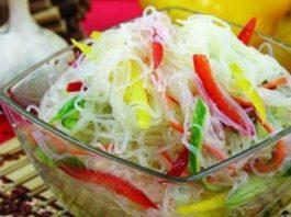 Салат «Фунчоза» с овощами. Вкуснятина!