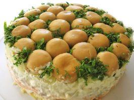 Салат «Грибная поляна»: настоящий шедевр кулинарного искусства!