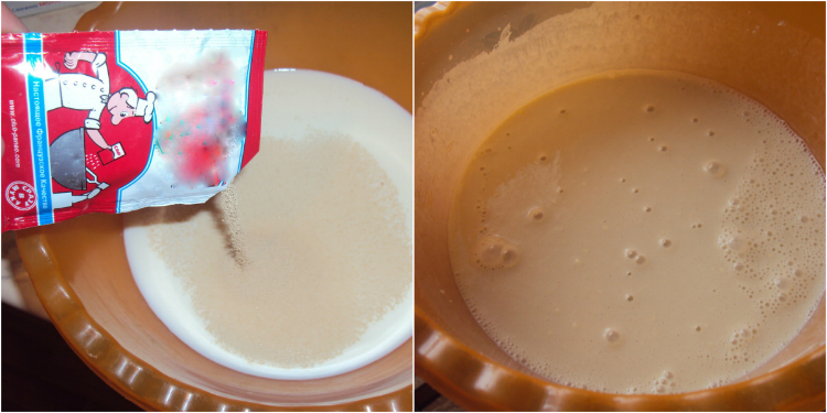 Картинки по запросу В теплом молоке разведи дрожжи, добавь сахар, 6 ст. л. муки. Всё тщательно размешай, накрой и поставь на 30 минут в теплое место