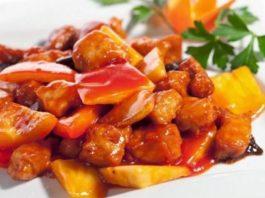 Ужин для тех, кто на диете: курица в кисло-сладком соусе