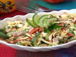 Вкусный и освежающий салат «Бахор»
