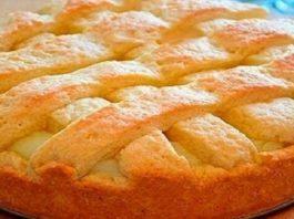 Яблочный пирог с кремом! Отменный пирог, с которым ты забудешь про шарлотку!