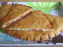 Кальцоне — Пирог с творогом, сыром и салями