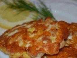 Курино-сырные рубленые котлеты
