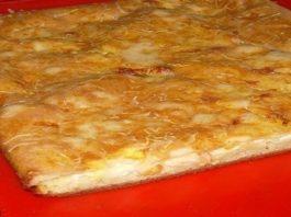 Просто, вкусно, доступно ! Сытный и вкусный наливной пирог с сыром