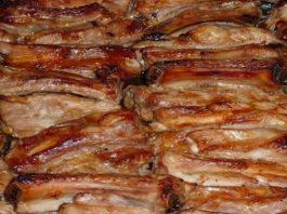 Запеченные свиные ребрышки — Вряд ли кто-то откажется полакомиться!