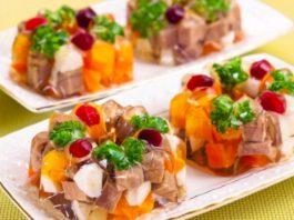 Праздничное порционное заливное «Пальчики оближешь»